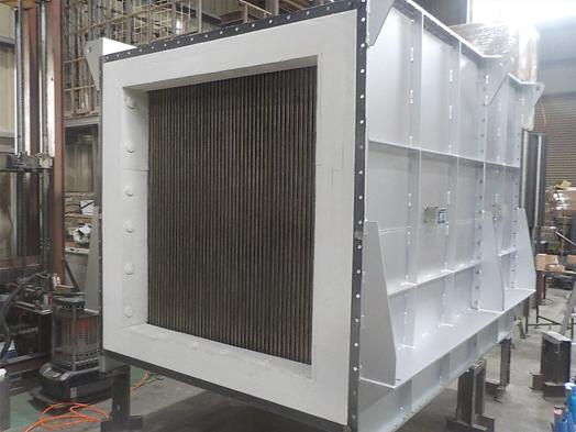 アスファルト脱臭装置向け熱交換器